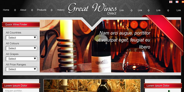 osCommerce online store for Great Wines Direct
