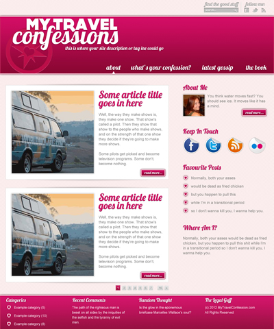 myTravelConfessions design