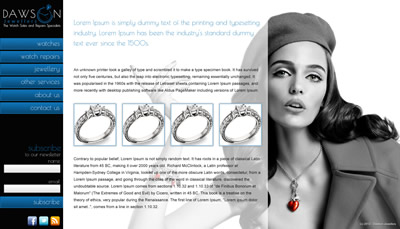 Dawson Jewellery web site in Ireland