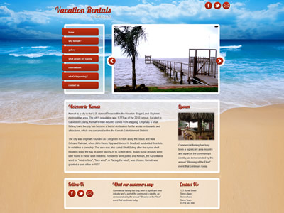 Vacation Rentals Kemah home page